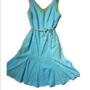 Nwt Gabriella Skye Aqua eyelet Flare Dress
